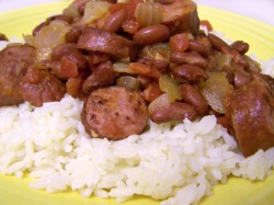 Garlicky Red Beans and Sausage