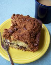 Banana Coffee Cake with Cinnamon-Chocolate Chip Streusel