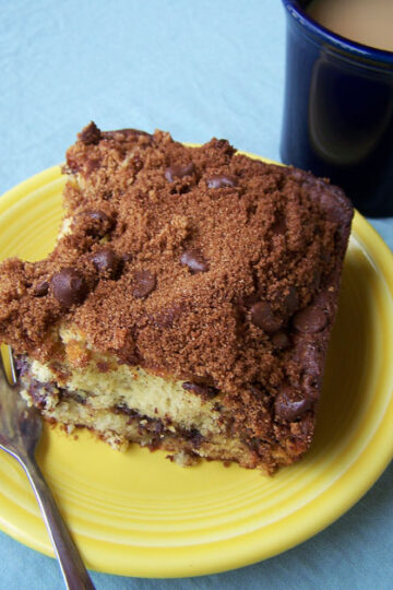 Banana Coffee Cake with Cinnamon-Chocolate Chip Streusel