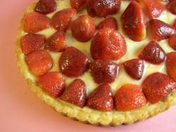 Lemon Glazed Strawberry Tart with Pastry Cream