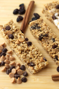 Peanut Butter Chewy Granola Bars