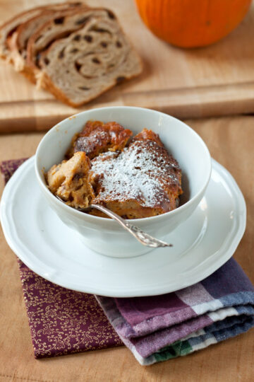 Pumpkin-Raisin Bread Pudding