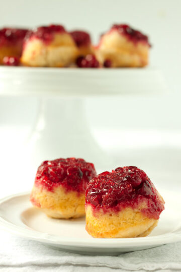 Upside Down Cranberry Muffins