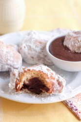 Chocolate-filled Beignet